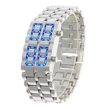Iron Samurai - LAVA Inspired Blue LED Watch for Man -