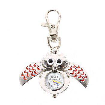 Fashionable Type of Owl Pocket Quartz Watch with Key Chain