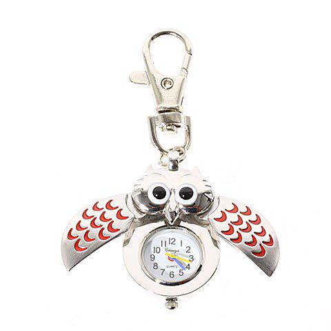 Fashionable Type of Owl Pocket Quartz Watch with Key Chain -