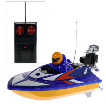 Fully Operational Miniature R/C Racing Boat - 953 (Blue)