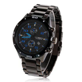 Curren Exquisite Calendar Display Man's Leisure Black Wrist Watch 8021 (Black)