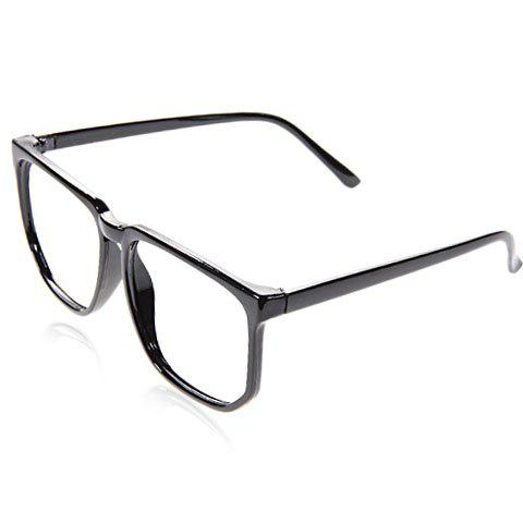 Фото Stylish Plastic Square Optical Frames Cool Eyeglass Frame Decoration for Boy Girl (Black)