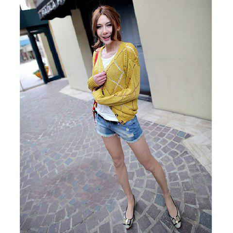 New Arrival Korea Style Light Blue Hot Jeans - AS THE PICTURE XL