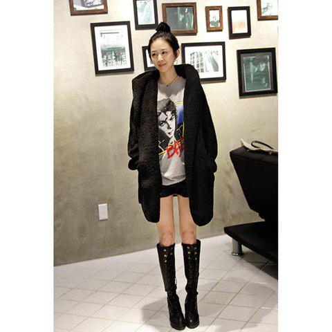 New Arrival High Quality and Warm Long Sleeves Coat For Female - GREY
