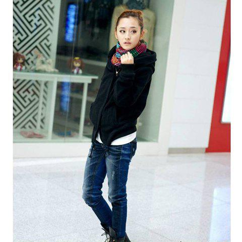 Fashion Campus Style High Quality Long Sleeves Zipper Short Coat