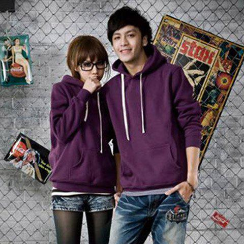 New Arrival Mix-Matched Cotton Hooded and Long Sleeve Fleeces For Lover -  PINK