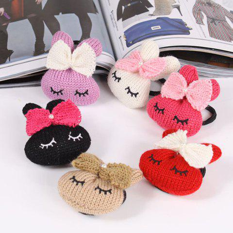 Corean Lovely Style Bowknot and Rabbit Pattern Hair Band - COLOR ASSORTED