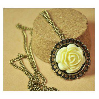 Retro Style Rose Shape Design Necklace -