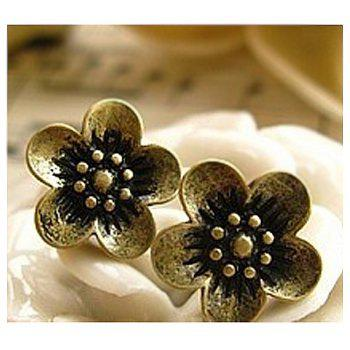 Retro Style Daisy Pattern Earrings