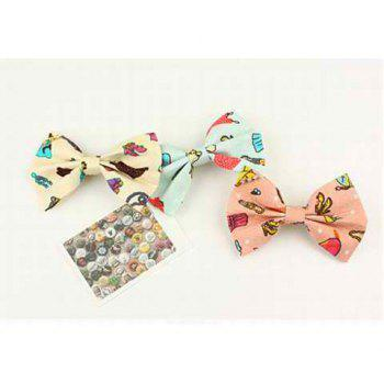 Corean Lovely Style Scrawl High-heeled Shoes Decorated Bowknot Pattern Hairpin