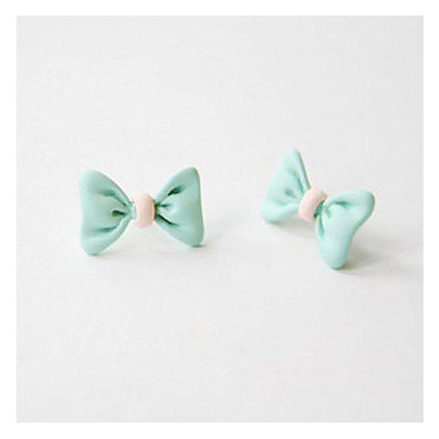 Corean Sweety and Lovely Style Bowknot Shape Design Earrings -  COLOR ASSORTED