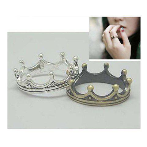 Fashion and Vintage Style Crown Shape Design Finger Ring - COLOR ASSORTED