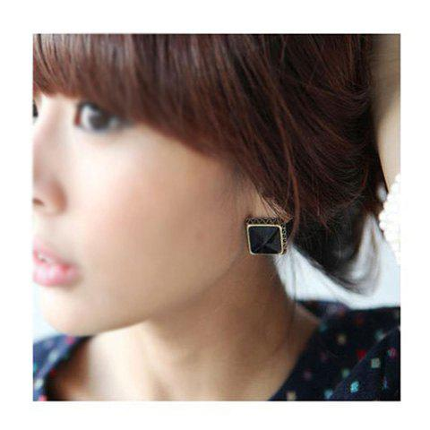 Square Shape Designed Earrings - COLOR ASSORTED