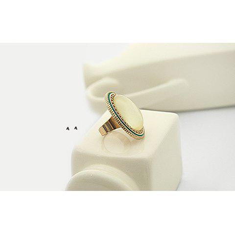Retro Style Ellipse Pattern Design Rings For Female - COLOR ASSORTED