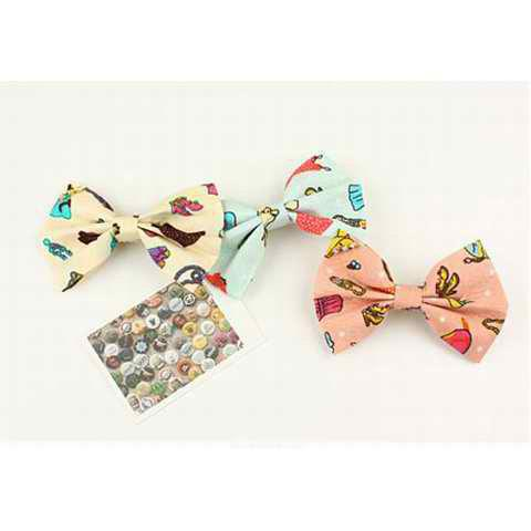 Corean Lovely Style Scrawl High-heeled Shoes Decorated Bowknot Pattern Hairpin - YELLOW