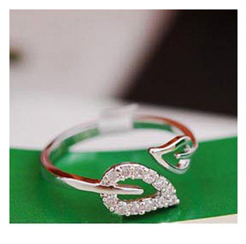 Laconic and Elegant Two Pieces of Leaves Design Rings For Female - COLOR ASSORTED