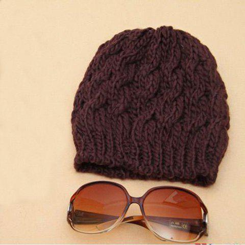 Laconic and Mix-Matched Ananas Pattern Design Cap For Female - COFFEE