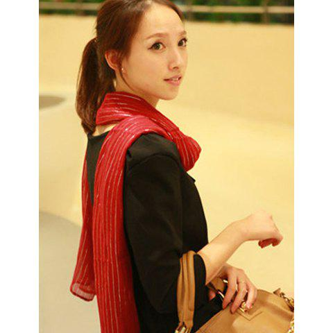 Hot Sale Laconic and Mix-Matched Red Scarf For Female -
