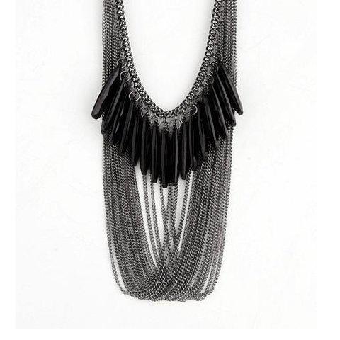 Fashion and Unique Style Multi-tassels Decorated Necklace -