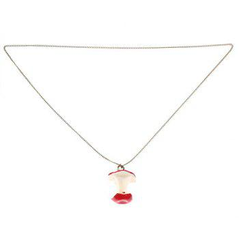 Emulationial Apple Core Pendant Necklace Chain for Female (Coppery) -