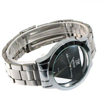 Fashionable Bariho Triangle Shaped Dial Stainless Steel Wrist Watch with Black Dial for Men A112 (Silver) - BLACK DIAL