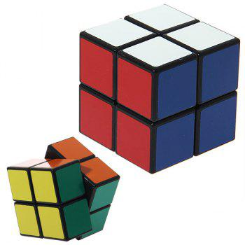 Wonderful 2x2x2 Rotating Magic Cube (Black Edge) - BLACK BLACK