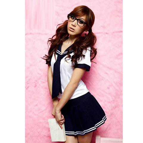 Japanese Sexy Style Campus Sexy Lingerie Uniform For Female (Long Style) -