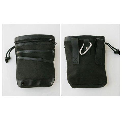 Convenient and Multifunctional Zipper Design Sacking Bag For Male - BLACK