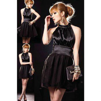 Elegance and Charming Strapless Round-Neck Knee Length Dress For Women