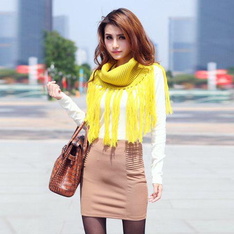 Simplicity Mix Match Solid Color Ruffles Apricot Ottoman Mini Skirt For Women - APRICOT L