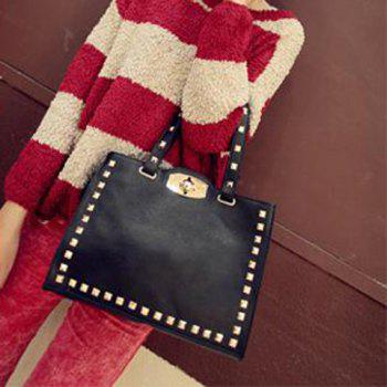 New Arrival Casual Black Rivet Embellished Bag For Women