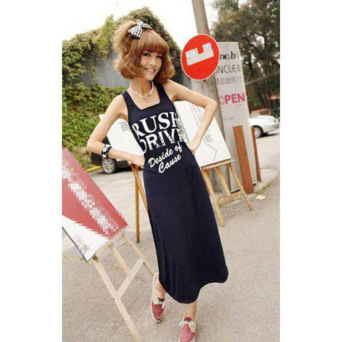 Casual and Comfortable Sleeveless Long Dress For Women - BLACK FREE SIZE