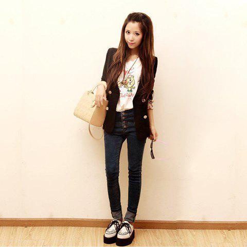 New Arrival High Waist Fitted Jean Trousers For Women - AS THE PICTURE M