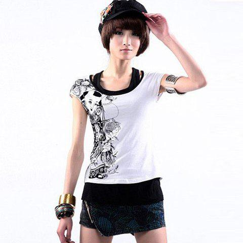 Fashion and Exquisite Style Embroidery Embellished Zipper Design Women's Short Pants - AS THE PICTURE L
