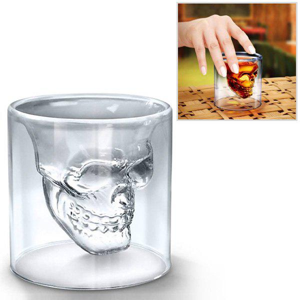 Fancy Crystal Skull Transparent Glass CupHome<br><br><br>Color: TRANSPARENT