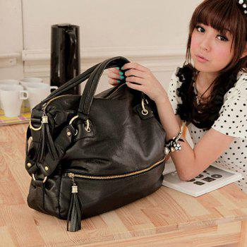 New Arrival Rivet Embellished Black Big Bag For Women
