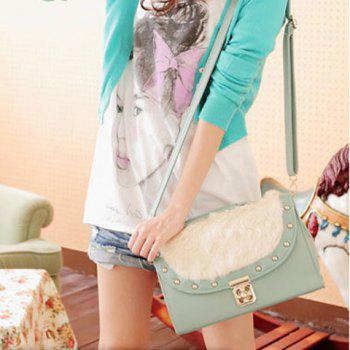 Fashion and Sweet Candy Color Fur Embellished Bag For Women