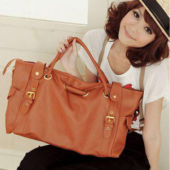 Korean Style Lady Synthetic Leather Handbag Shoulder Bag