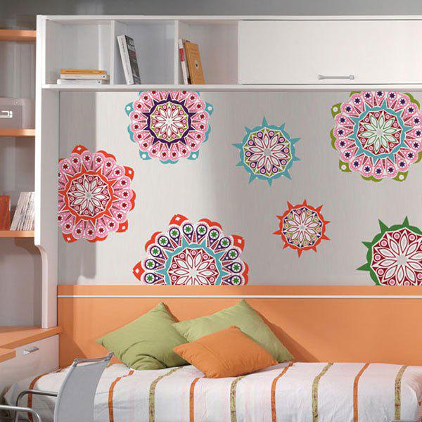 India Style Flowers Pattern PVC Sticker Wall Decal Home Decor india hicks island style