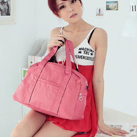 Cute Solid Color Waterproof High Capacity Zipper Bag For WomenBags<br><br><br>Color: PINK
