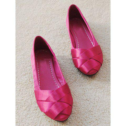Elegant Cross Style Planus Heel Pointed Shoes For Women