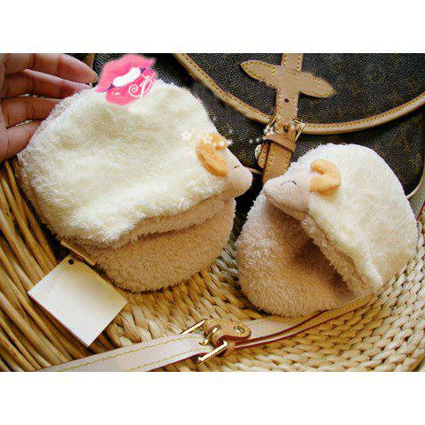 New Arrival Cute Cartoon Animal Shapes Warmly Plush Slippers For Girls - WHITE