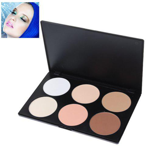 Fashionable Professional Face Concealer Women Cosmetic Kit with Rectangle Box (6 Colors) -