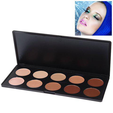 Fashionable Professional Face Concealer Women Cosmetic Kit (10 Colors) -