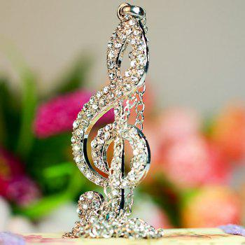 Diamond Musical Note Pendant Necklace