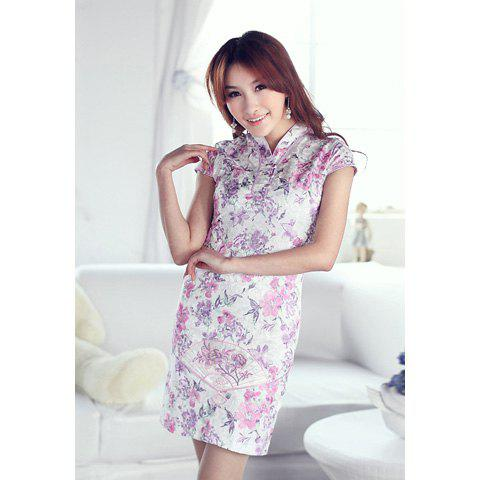 Women's Charming Slimming Cheong-Sam With Embroidery Fan and Floral Print Design от Dresslily.com INT