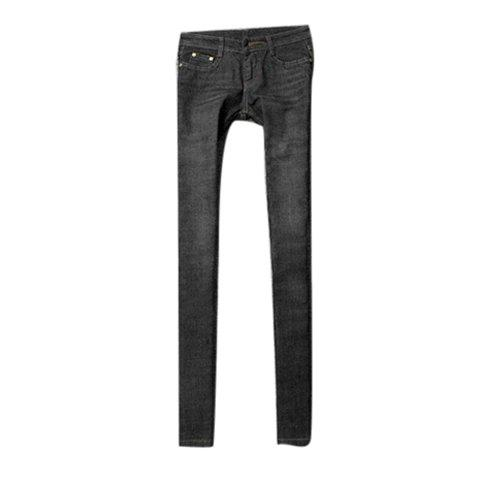 Simple Narrow Feet Slimming Jeans Pants For Women