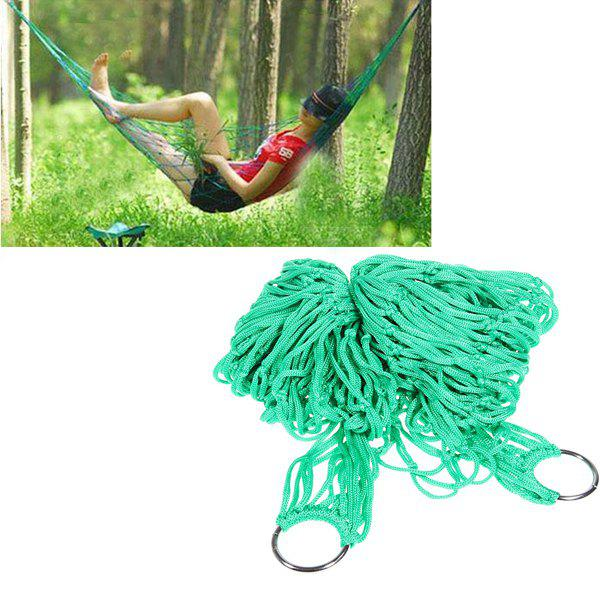 High Strength Material Hammock Camping Yard Hanging Bed for Outdoor Activities (Green)Home<br><br>
