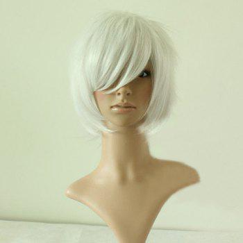 NO.6 Shion Men's Cosplay Wig(Silver)