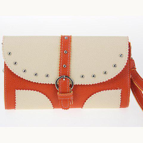 Casual Buckle and Rivets Design Women's Shoulder Bag